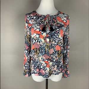 Maeve Anthropologie Floral Peasant Top-Long Sleeve